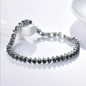 Jewelry - 18K GF black tennis bracelet